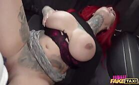 Female Sabien Demonia let the mechanic play with her massive breasts