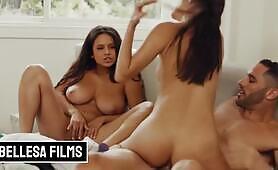 Latinas Gianna Dior & Autumn Falls share in threesome