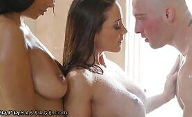 Abigail Mac Thinks A Threesome Massage IS Better